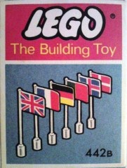 Lego 442B 6 International Flags (The Building Toy)