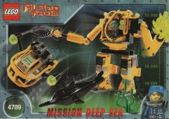 Lego 4789 Alpha Team Aquatic Mech