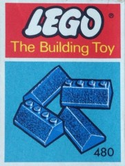 Lego 480 Slopes and Slopes Double 2 x 4, Blue (The Building Toy)