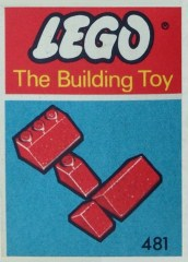 Lego 481 Slopes and Slopes Double 2 x 3 and 2 x 1, Red (The Building Toy)