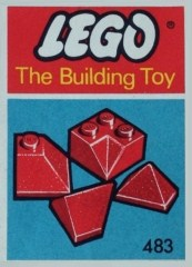 Lego 483 Angle, Valley and Corner Slopes, Red (The Building Toy)