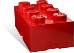 Lego 5001388 8 Stud Red Storage Brick