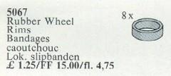 Lego 5067 Rubber Wheel Rims