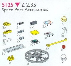 Lego 5125 Space Port Accessories (Launch Command Accessories)