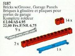 Lego 5187 Bricks with Groove, Garage Panels