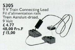 Lego 5305 Train Connecting Lead 9 V