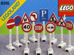 Lego 6315 Road Signs