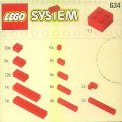 Lego 634 Extra Bricks in Red