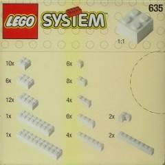 Lego 635 Extra Bricks in White