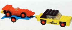 Lego 650 Car with trailer and racing car