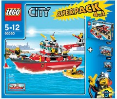 Lego 66360 City Super Pack 4 in 1