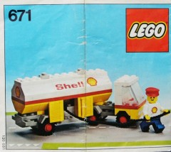 Lego 671 Shell Petrol Tanker