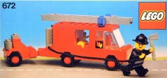 Lego 672 Fire Engine and Trailer
