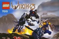 Lego 7015 Viking Warrior challenges the Fenris Wolf