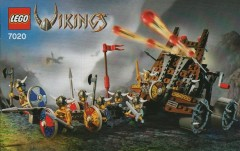Army of Vikings with Heavy Artillery Wagon