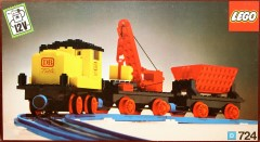 Lego 724 12v Diesel Locomotive with Crane Wagon and Tipper Wagon