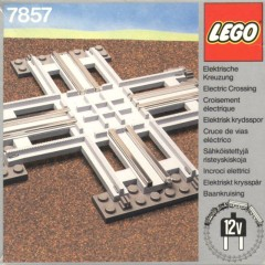 Lego 7857 Crossing, Electric Rails Grey 12 V