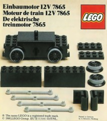 Lego 7865 Motor Replacement Unit for Battery or Motor-Less Trains 12 V