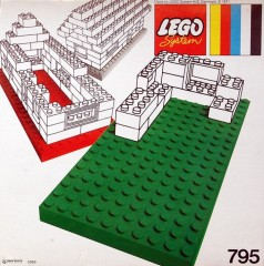 Lego 795 2 Large Baseplates, Red/Blue