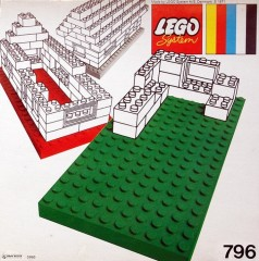 Lego 796 2 Large Baseplates, Green/Yellow