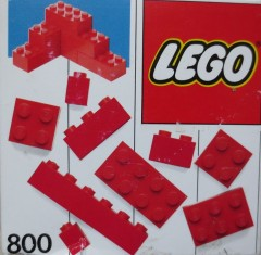 Lego 800 Extra Bricks Red
