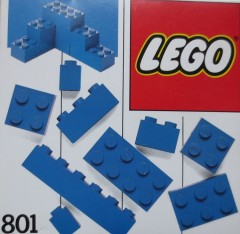 Lego 801 Extra Bricks Blue