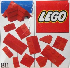 Lego 811 Red Roof Bricks, Steep Pitch