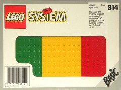 Lego 814 Baseplates, Green, Red and Yellow