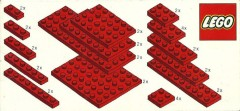 Lego 820 Red Plates Parts Pack