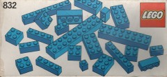 Lego 832 Blue Bricks Parts Pack