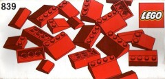 Lego 839 Red Roof Bricks Parts Pack, 33°