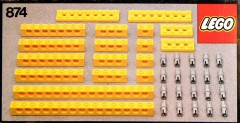 Yellow Beams with Connector Pegs