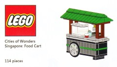 Lego COWS Cities of Wonders - Singapore: Food Cart