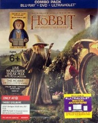 The Hobbit - An Unexpected Journey Blu-Ray with Bilbo Baggins Minifigure